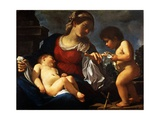 Madonna and Child with the Young Saint John the Baptist, C.1615-16 Lámina giclée por  Guercino