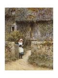 The Garden Gate Giclee Print by Helen Allingham