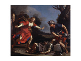 Erminia Finding the Wounded Tancredi Giclee Print by  Guercino