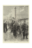 Recruiting for the Army Outside St George's Barracks, Trafalgar Square Giclee Print by Henri Lanos