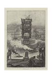 The Present State of the Tower Bridge, a View from the Tower Pier, Surrey Side Giclee Print by Henri Lanos
