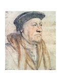 George Nevill, 3rd Baron Bergavenny, C.1532-35 (Pen and Ink, Chalk, Wash and Bodycolour on Paper) Reproduction procédé giclée par Hans Holbein the Younger