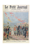 Title Page Depicting the Arrival of His Majesty the Emperor of Russia in Cherbourg from the Illustr Giclee Print by Henri Meyer