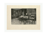 Gaston Tissandier, French Balloonist, Seated at a Desk in His Study Giclee Print by Henri Thiriat