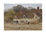 By the Old Cottage Giclee Print by Helen Allingham