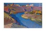 Sunny Autumn on the River Inguletz, 1972 Giclee Print by Grygoriy Shyshko