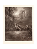 Dante and the River of Lethe Giclee Print by Gustave Dore