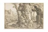 Balaam and the Angel Giclee Print by Hanns Sebald Lautensack