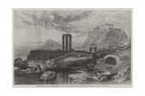 The Olympaeum and Acropolis of Athens Giclee Print by Harry John Johnson