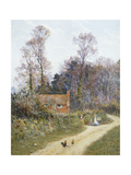 In a Witley Lane Giclee Print by Helen Allingham