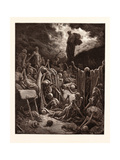 The Vision of the Valley of Dry Bones Giclée-tryk af Gustave Dore