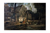 Washerwomen in Bougival, 1864-1870 Giclee Print by Guido Carmignani