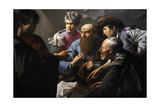The Calling of St Matthew, 1621, by Hendrick Ter Brugghen (1588-1629). Netherlands Giclee Print by Hendrick Ter Brugghen