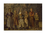 Cave Dwellers, Dieppe, 1907 Giclee Print by Harold Gilman