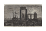 The Temple of Minerva in Aegina, Greece Giclee Print by Harry John Johnson