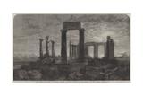 The Temple of Minerva in Aegina, Greece Giclee Print by Harry John Johnson