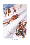 Fun in Canada Giclee Print by Gordon Frederick Browne