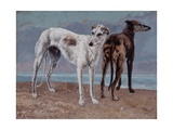 The Greyhounds of the Comte De Choiseul, 1866 Giclee Print by Gustave Courbet