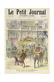 Title Page Depicting the Mid-Lent Parade in Front of the Petit Journal Offices from the Illustrated Giclee Print by Henri Meyer