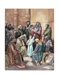 Jesus in His Childhood Among the Doctors Giclee Print by Gustave Dore