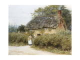 A Thatched Cottage Near Peaslake, Surrey Giclee Print by Helen Allingham