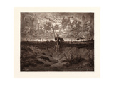 Don Quixote Setting Out on His Adventures Giclee Print by Gustave Dore