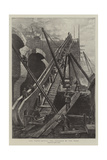 The Tower Bridge, the Progress of the Work Giclee Print by Henri Lanos