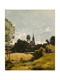 The Village Church, 1891 Giclee Print by Henri-Joseph Harpignies