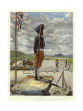 A Sikh Sentry at Fort Johnston, British Central Africa Giclee Print by Harry Hamilton Johnston