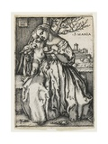 Virgin and Child with a Parrot, 1549 Giclee Print by Hans Sebald Beham