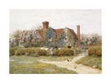 A Buckinghamshire House at Penstreet Giclee Print by Helen Allingham