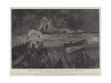 The Wreck of a Schooner at Gorleston, Bringing the Crew Ashore by the Breeches-Buoy Giclee Print by Henry Charles Seppings Wright