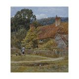 Netley Farm, Shere, Surrey Giclee Print by Helen Allingham