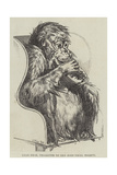 Uran-Utan, Presented to the Zoological Society Giclée-tryk af Harrison William Weir