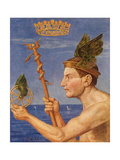 Mercury from 'Festkalender' Published in Leipzig C.1910 Giclee Print by Hans Thoma