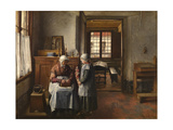 Grandmother's Feast Giclee Print by Henri De Braekeleer