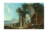 The Colosseum at Rome Giclee Print by Hendrik Van Lint