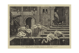 The Pets of an Eastern Palace, a Tunisian Study Giclee Print by Harry Hamilton Johnston