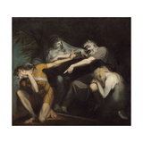 Oedipus Cursing His Son, Polynices, 1786 Giclee Print by Henry Fuseli