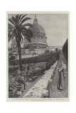 St Peter's Seen from a Corner of the Italian Garden of the Vatican Giclee Print by Harry Hamilton Johnston