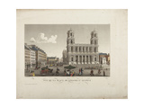 View of the Square of the Church of Saint-Sulpice Giclee Print by Henri Courvoisier-Voisin