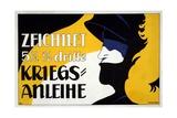 Zeichnet 5 1/2% Dritte Kriegs-Anleihe, Pub. 1917 Giclee Print by Heinrich Lefler