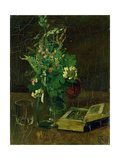Still Life with a Bunch of Flowers and a Bible, 1872 Giclee Print by Hans Thoma
