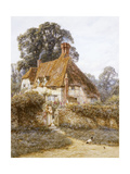 Near Witley, Surrey (Watercolour with Scratching Out) Impression giclée par Helen Allingham