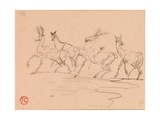 Stags and Hinds Lámina giclée por Henri de Toulouse-Lautrec