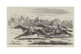 The Deciding Heat for the Cesarewitch Stakes, 1857 Giclee Print by Harry Hall