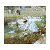 A Provencal Stream, C.1903 Giclee Print by Henry Herbert La Thangue