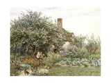 Near Hambledon (Watercolour Heightened with Bodycolour and Scratching Out) Giclee Print by Helen Allingham