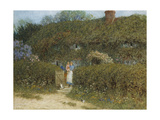 A Cottage at Freshwater, Isle of Wight (Watercolour and Bodycolour Heightened with Scratching Out) Giclee Print by Helen Allingham