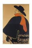 Aristide Bruant in His Cabaret, 1893 Lámina giclée por Henri de Toulouse-Lautrec